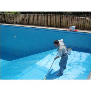 Pinturas de clorocaucho en Vitoria aplicada sobre piscinas